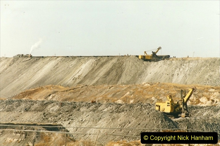 China 1999 October Number 1. (180) At Jalainur Opencast Coal Mine.