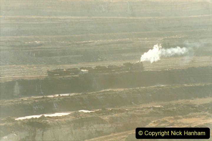 China 1999 October Number 1. (181) At Jalainur Opencast Coal Mine.