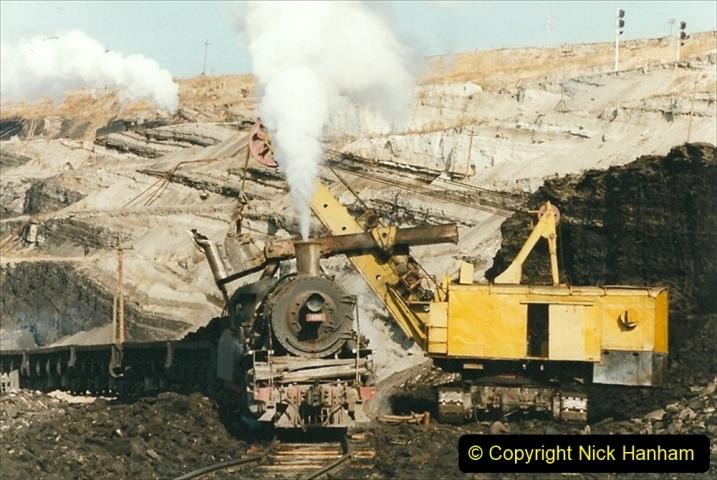 China 1999 October Number 1. (183) At Jalainur Opencast Coal Mine.