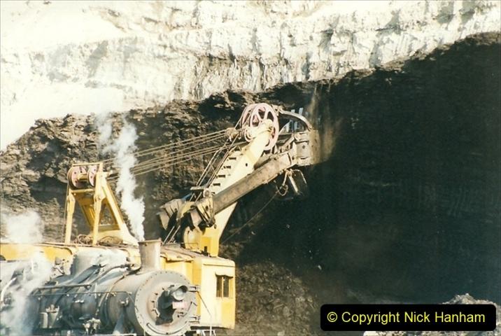 China 1999 October Number 1. (184) At Jalainur Opencast Coal Mine.