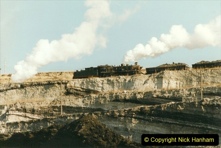 China 1999 October Number 1. (187) At Jalainur Opencast Coal Mine.