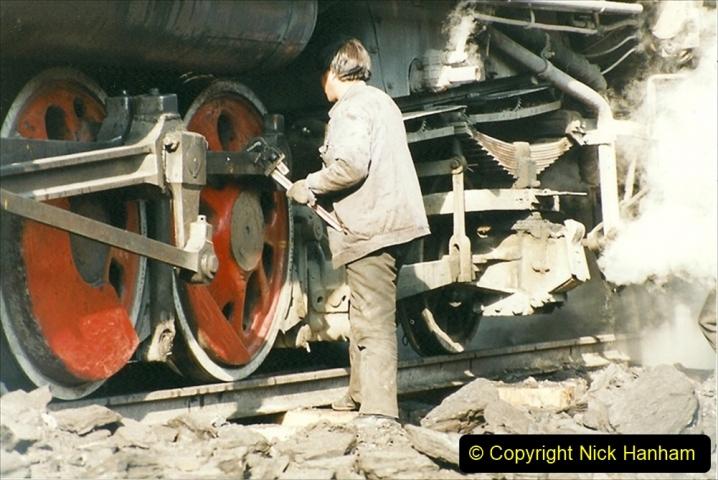 China 1999 October Number 1. (188) At Jalainur Opencast Coal Mine.