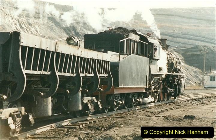 China 1999 October Number 1. (193) At Jalainur Opencast Coal Mine.