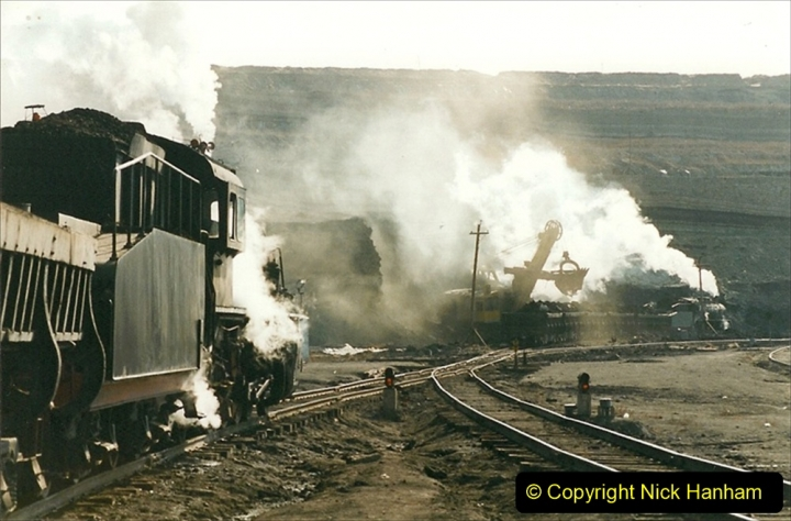 China 1999 October Number 1. (194) At Jalainur Opencast Coal Mine.