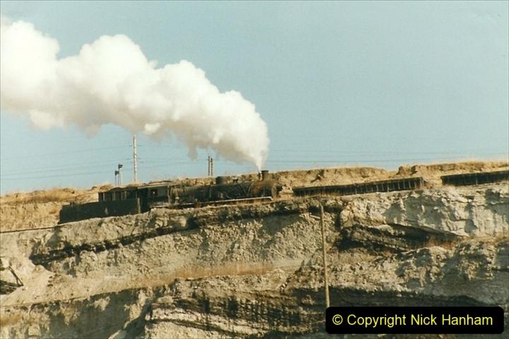 China 1999 October Number 1. (202) At Jalainur Opencast Coal Mine.