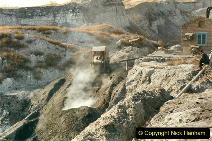 China 1999 October Number 1. (203) At Jalainur Opencast Coal Mine.