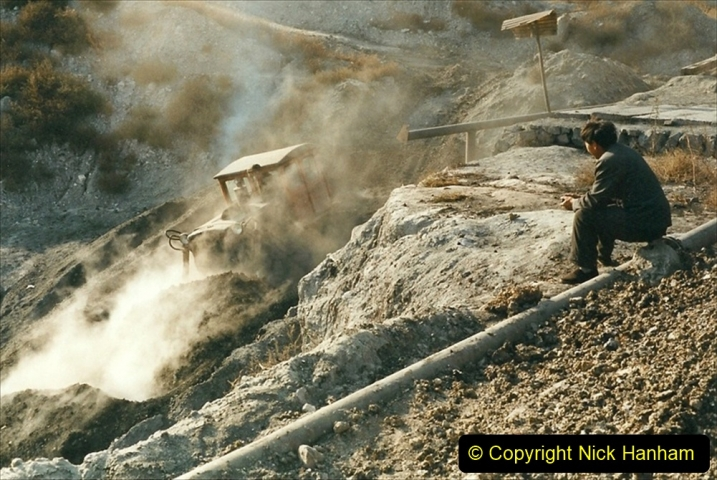 China 1999 October Number 1. (204) At Jalainur Opencast Coal Mine.