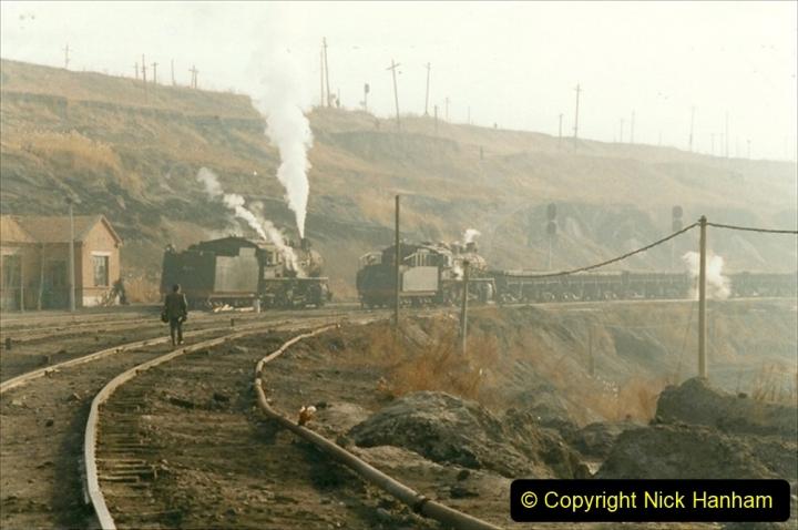 China 1999 October Number 1. (213) At Jalainur Opencast Coal Mine.
