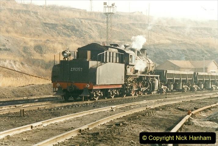 China 1999 October Number 1. (215) At Jalainur Opencast Coal Mine.