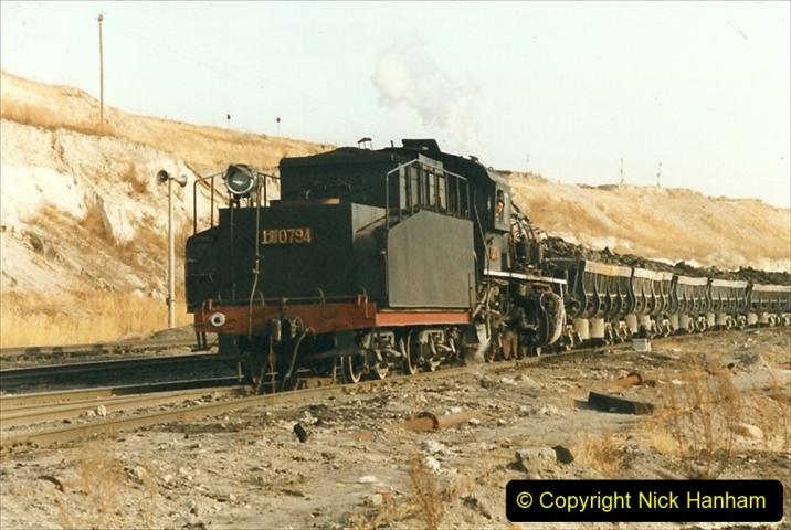 China 1999 October Number 1. (219) At Jalainur Opencast Coal Mine.