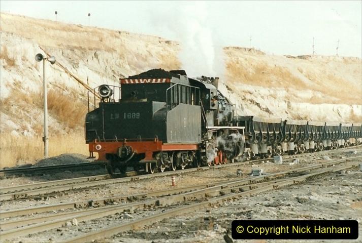 China 1999 October Number 1. (220) At Jalainur Opencast Coal Mine.