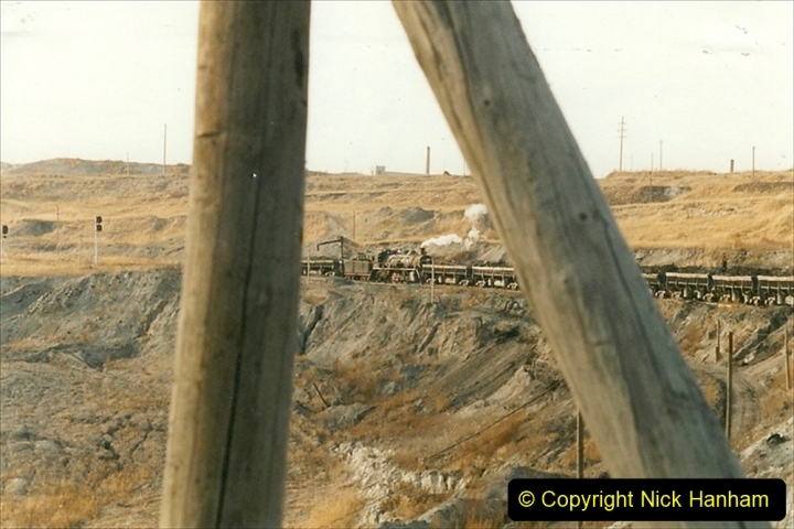China 1999 October Number 1. (225) At Jalainur Opencast Coal Mine.