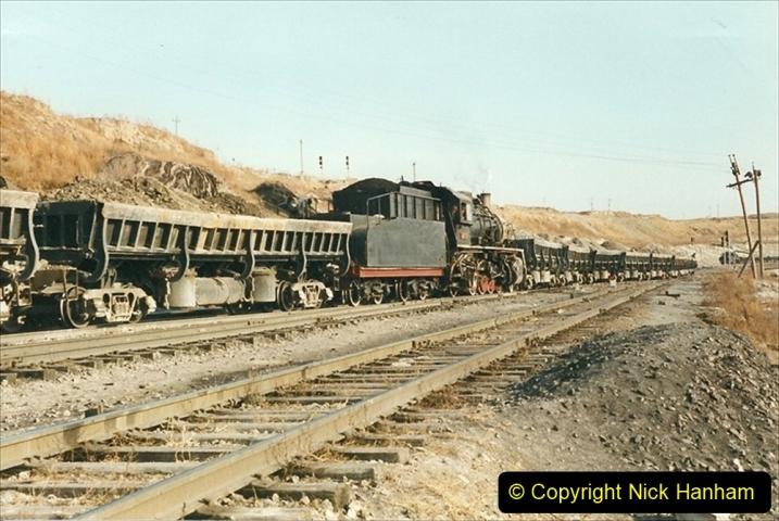 China 1999 October Number 1. (230) At Jalainur Opencast Coal Mine.