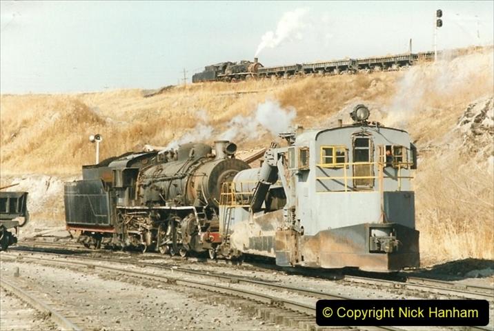 China 1999 October Number 1. (241) At Jalainur Opencast Coal Mine.