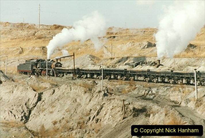 China 1999 October Number 1. (244) At Jalainur Opencast Coal Mine.