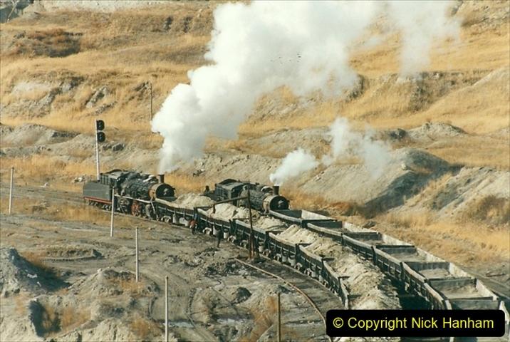 China 1999 October Number 1. (248) At Jalainur Opencast Coal Mine.