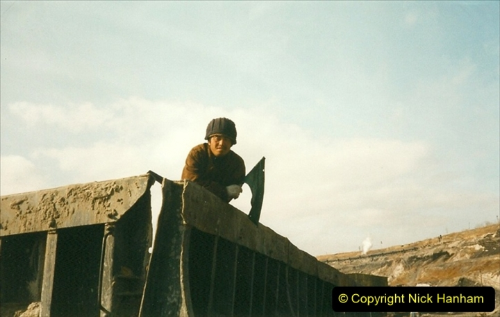 China 1999 October Number 1. (250) At Jalainur Opencast Coal Mine.