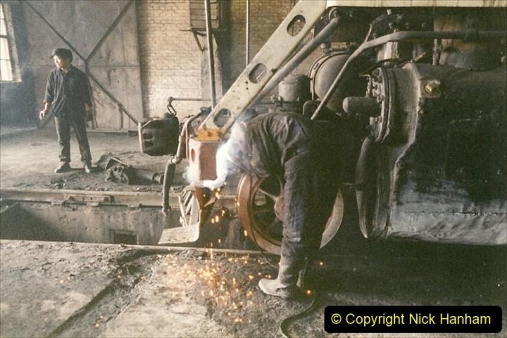 China 1999 October Number 1. (319) Jalinur Loco Works.