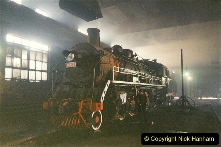 China 1999 October Number 1. (323) Jalinur Loco Works.