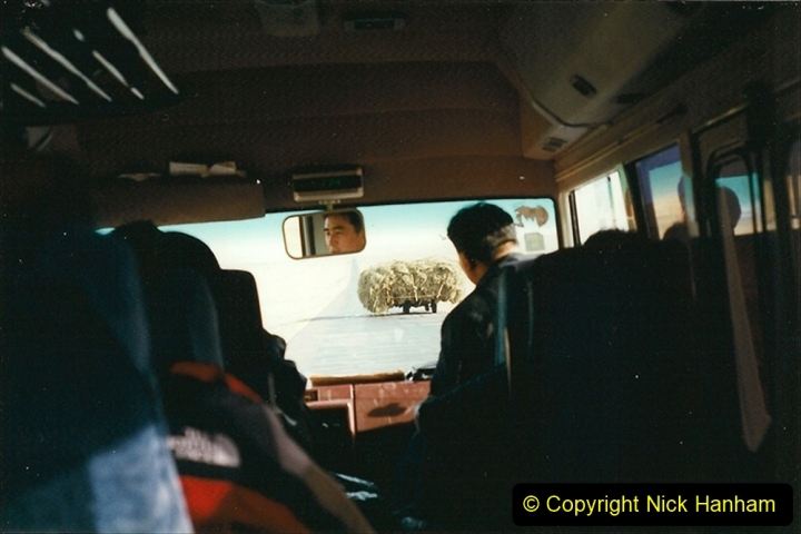 China 1999 October Number 1. (342) Jalinur Loco Works. Road transfer from Jalainur to Hailaer.