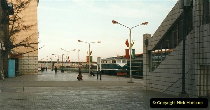 China 1999 October Number 1. (345) Jalinur Loco Works. Hailaer Station