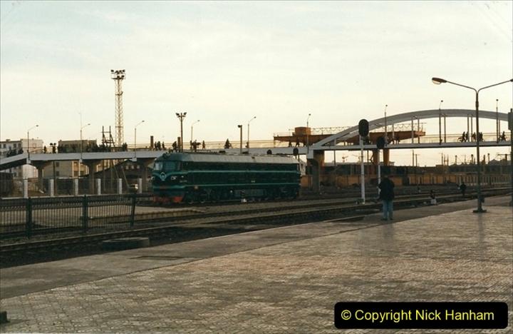 China 1999 October Number 1. (347) Jalinur Loco Works. Hailaer Station
