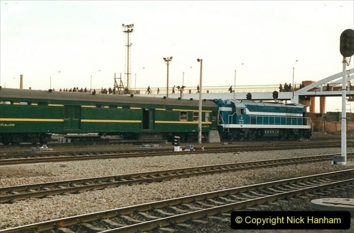 China 1999 October Number 1. (348) Jalinur Loco Works. Hailaer Station