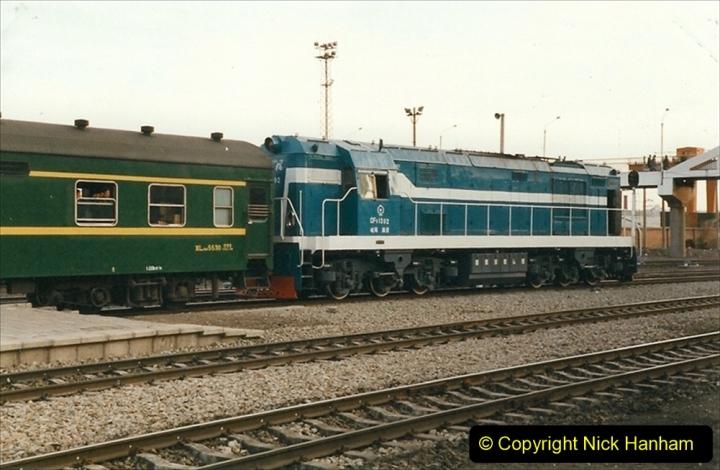 China 1999 October Number 1. (353) Jalinur Loco Works. Hailaer Station