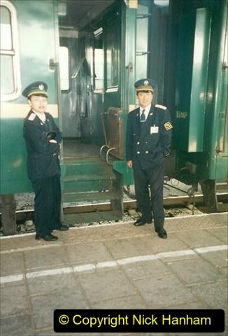 China 1999 October Number 1. (355) Jalinur Loco Works. Hailaer Station