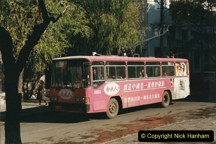 China 1999 October Number 1. (49) Harbin buses.