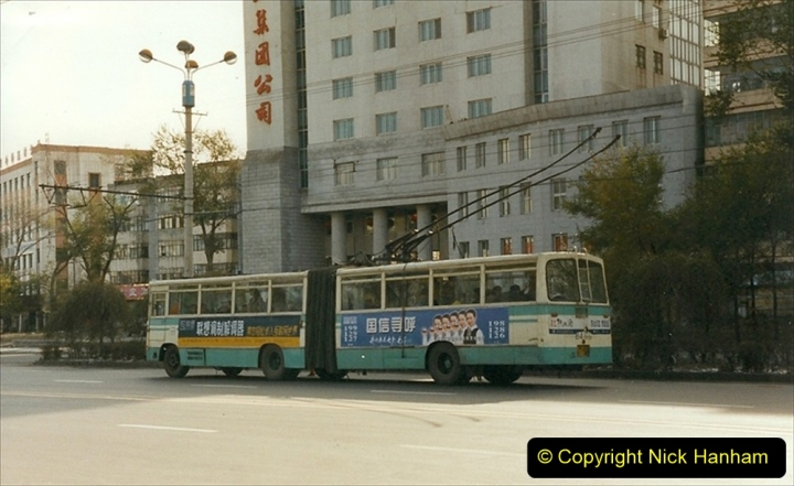 China 1999 October Number 1. (51) Harbin buses.