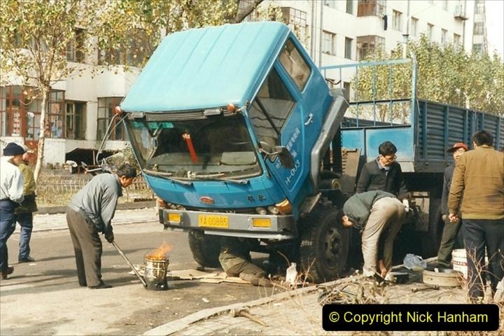 China 1999 October Number 1. (63) Harbin trucks.