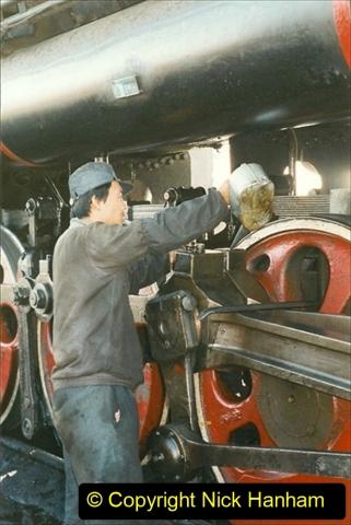 China 1999 October Number 2. (10) China Rail Tongliao Shed.
