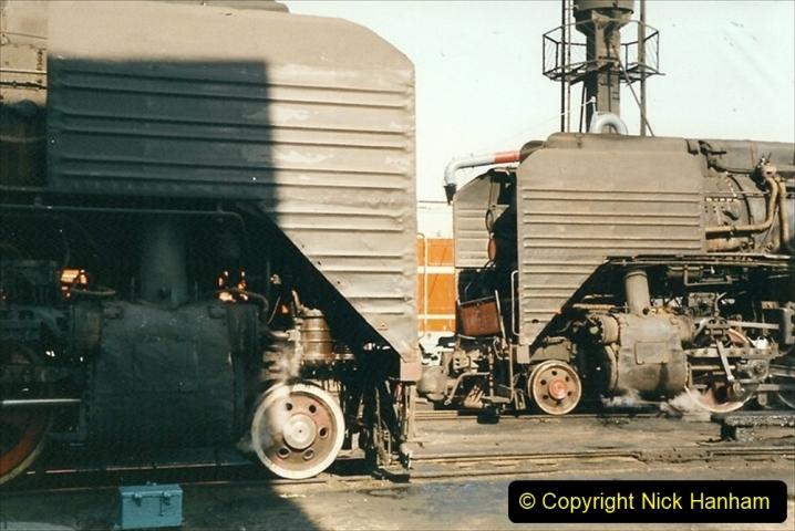 China 1999 October Number 2. (13) China Rail Tongliao Shed.