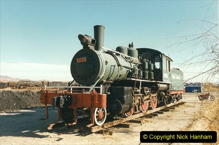 China 1999 October Number 2. (163) China Rail Deban Depot. USA built loco.