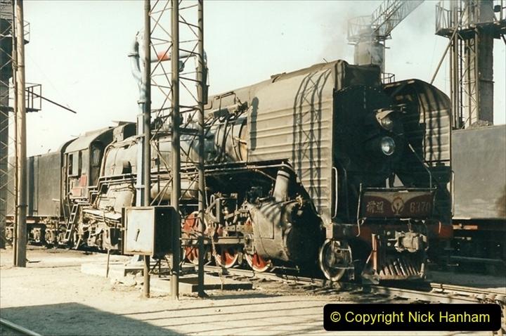China 1999 October Number 2. (17) China Rail Tongliao Shed.