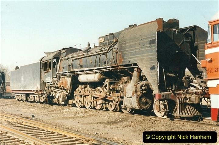 China 1999 October Number 2. (27) China Rail Tongliao Shed.
