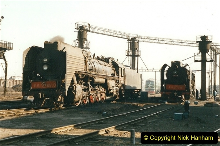 China 1999 October Number 2. (3) China Rail Tongliao Shed.