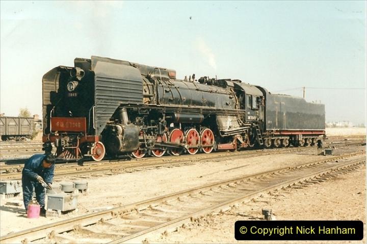 China 1999 October Number 2. (30) China Rail Tongliao Shed.