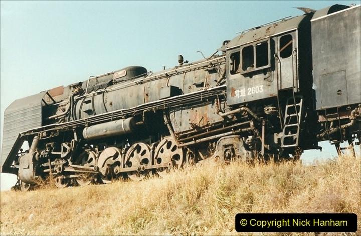 China 1999 October Number 2. (32) China Rail Tongliao Shed.