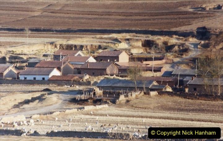 China 1999 October Number 2. (326) The Jingpeng Pass. Local village.