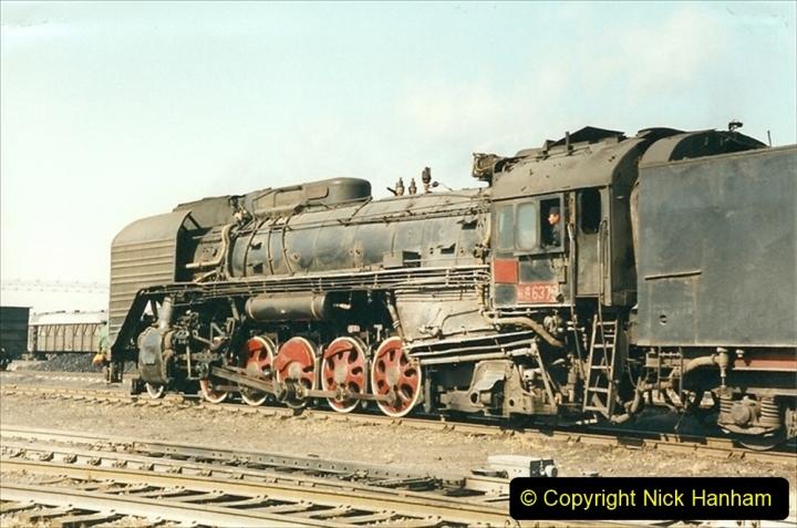 China 1999 October Number 2. (34) China Rail Tongliao Shed.