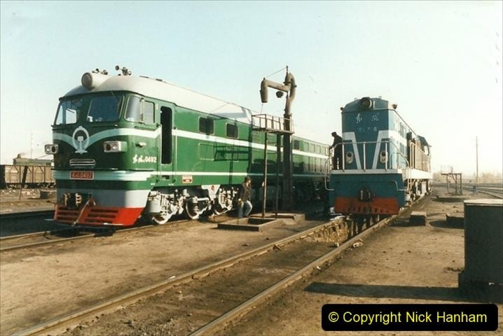 China 1999 October Number 2. (37) China Rail Tongliao Shed.