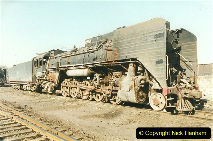 China 1999 October Number 2. (39) China Rail Tongliao Shed.