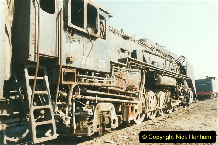 China 1999 October Number 2. (40) China Rail Tongliao Shed.