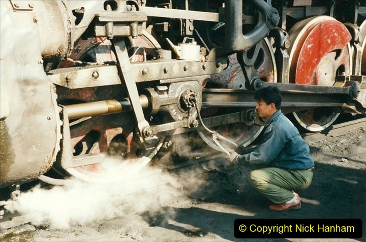 China 1999 October Number 2. (5) China Rail Tongliao Shed.