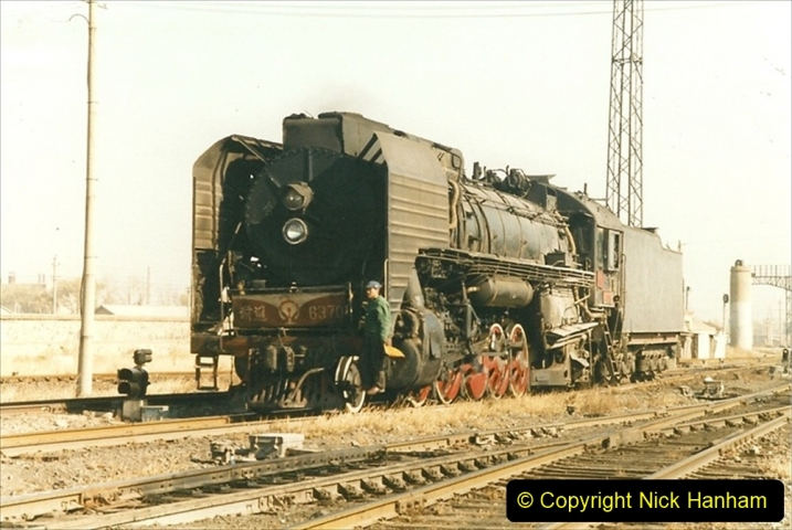 China 1999 October Number 2. (58) China Rail Tongliao Shed.