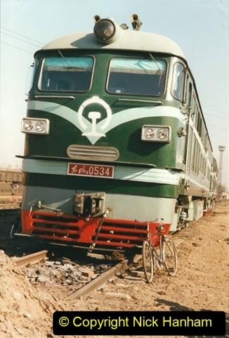 China 1999 October Number 2. (73) China Rail Tongliao Shed.