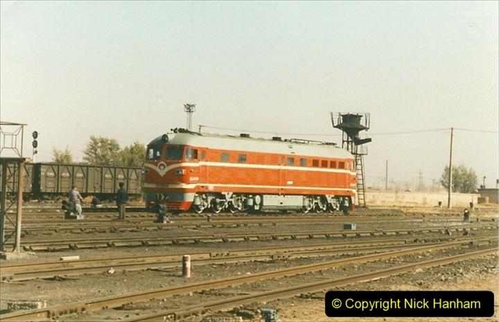 China 1999 October Number 2. (76) China Rail Tongliao Shed.