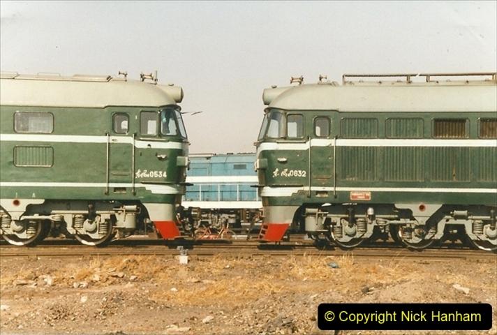 China 1999 October Number 2. (78) China Rail Tongliao Shed.